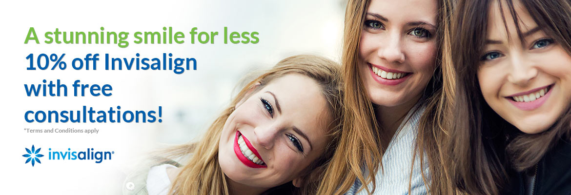 A stunning smile for less - 10% off Invisalign with free consultations!