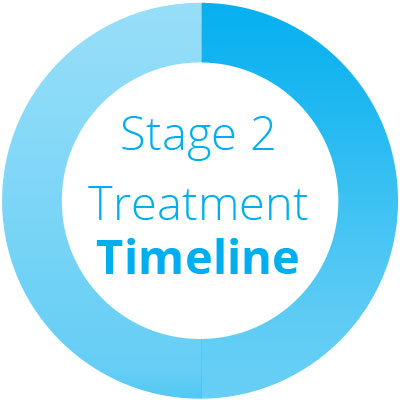 Detailed timeline of stages of treatment